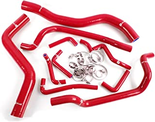 Silicone Radiator Coolant Hose Kit Clamps For MITSUBISHI ECLIPSE DSM 4G63T 2G 1995-1999 Red