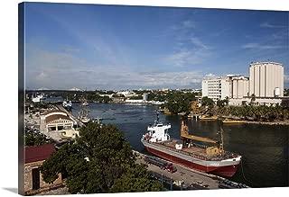 Dominican Republic, Santo Domingo, Zona Colonial, Ozama River Port Canvas Wall Art Print, 18