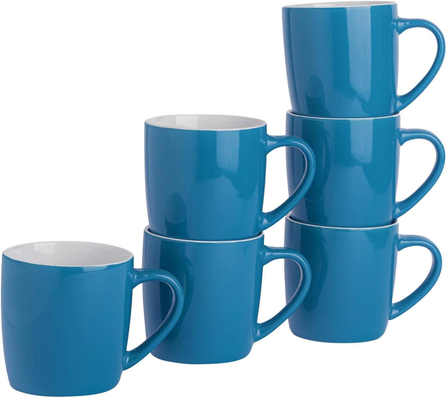 Argon Tableware Tea Coffee Mugs Contemporary Cera 6pc - OFFicial Sales for sale Coloured