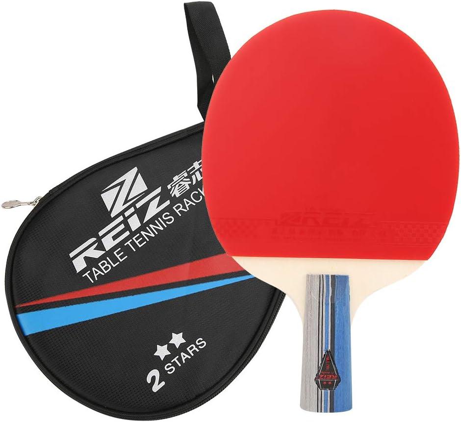 Palas Ping Pong Competición De Entrenamiento Raqueta De Tenis De Mesa De Goma Pong Paddle Equipo Deportivo con Bolsa De Almacenamiento Asa Corta