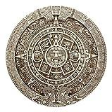 Ebros Mexica Aztec Solar Xiuhpohualli & Tonalpohualli Wall Calendar Sculpture 10.75' Diameter Mesoamerican Calendar Wall Plaque Figurine