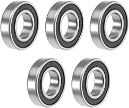 uxcell 6901-2RS Deep Groove Ball Bearing 12x24x6mm Double Sealed ABEC-3 Bearings 5-Pack