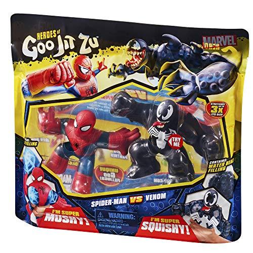 Heroes de Goo Jit Zu - Pack 2 Héroes Marvel (Spiderman Vs Venom)