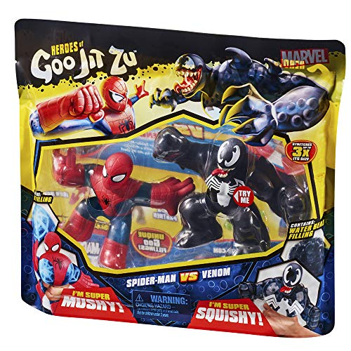 Heroes of Goo Jit Zu - Pack of 2 Marvel Spiderman vs Venom (Bandai CO41146)