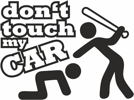 Folien Zentrum Dont Touch My Car Shocker Hand Car Sticker Jdm Tuning Oem Dub Decal Stickerbomb Bombing Fun White 11 Cm X 8 Cm Auto
