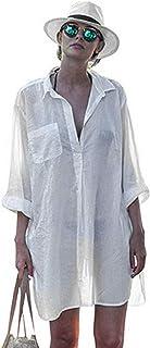 Robe de plage femme voilee