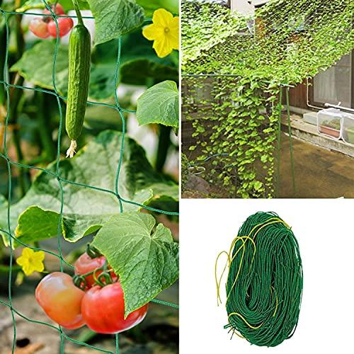 KJEUS Ranknetz, Pflanzennetz, Premium Ranknetz für Rankhilfe Gurken, Gewächshaus Zubehör für Kletterpflanzen, Gurken, Tomaten Blume und Anderen Gemüsepflanzen (1.8m x 1.8m)