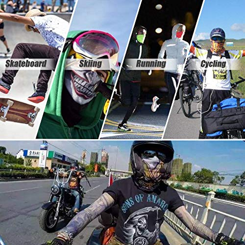 JOEYOUNG 3D Face Sun Mask, Neck Gaiter, Headwear, Magic Scarf, Balaclava, Bandana, Headband Fishing, Hunting, Yard Work, Running, Motorcycling, UV Protection, Great for Men & Women (D-Fish Scale)