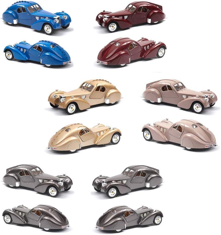 N D 1:28 Minneapolis Mall Bugatti 57SC Vintage Car Luxury goods Classi Handcrafted Alloy Model