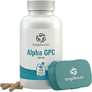 Alpha GPC Choline Supplement 300mg - 120 Vegetarian Capsules | Made in USA | Cognitive Enhancer Nootropic |...