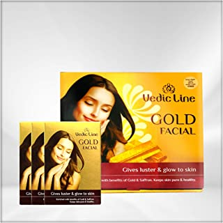 VEDICLINE Gold Ojas Facial Kit(Sachet Kits) for All Skin Types,490ml