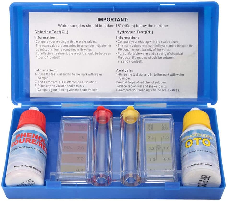 1 Set PH Selling rankings Chlorine Save money Water Testing Kit Hydrotool Test Quality