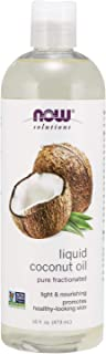 NOW Solutions, Liquid Coconut Oil, Light and Nourishing, Promotes Healthy-Looking Skin..