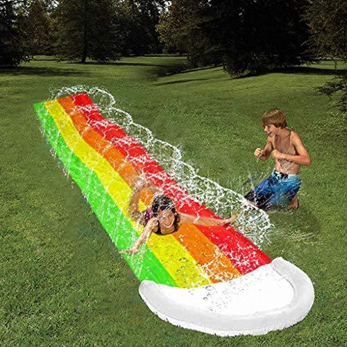 4,8 M Regenbogen Wasserrutsche Für Kinder Surf 'N Slide Sommer Big Pool Bounce House Wasserspielzeug Poolzubehör Schwimmbadespiele