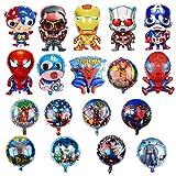 KRUCE 18 PC Globos de Papel de Fiesta de cumpleaños de superhéroes, Globos de Papel de superhéroe para Regalos de niños Suministros de Fiesta de cumpleaños Decoración
