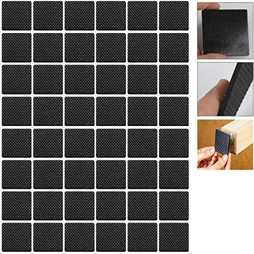 MOTZU 192 Pack rutschfest Gummi Pads,Filzgleiter Filzunterleger Schwarz, 2 * 2cm Selbstklebend Bodenschutz Kratzfest Möbelpuffer,Platz Stuhlbeinfuß Pads,Möbelgleiter für Möbel/Fußböden/Stühle/Tisch