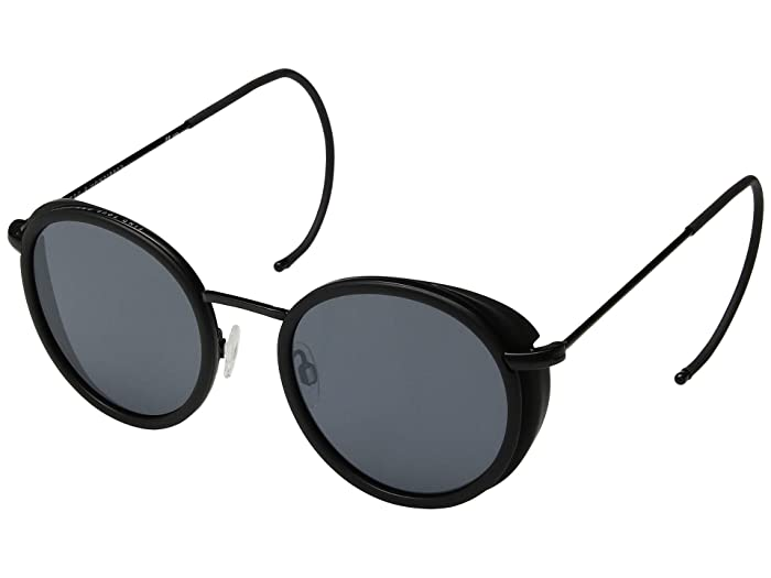 VonZipper Empire (Black Satin/Grey) Athletic Performance Sport Sunglasses