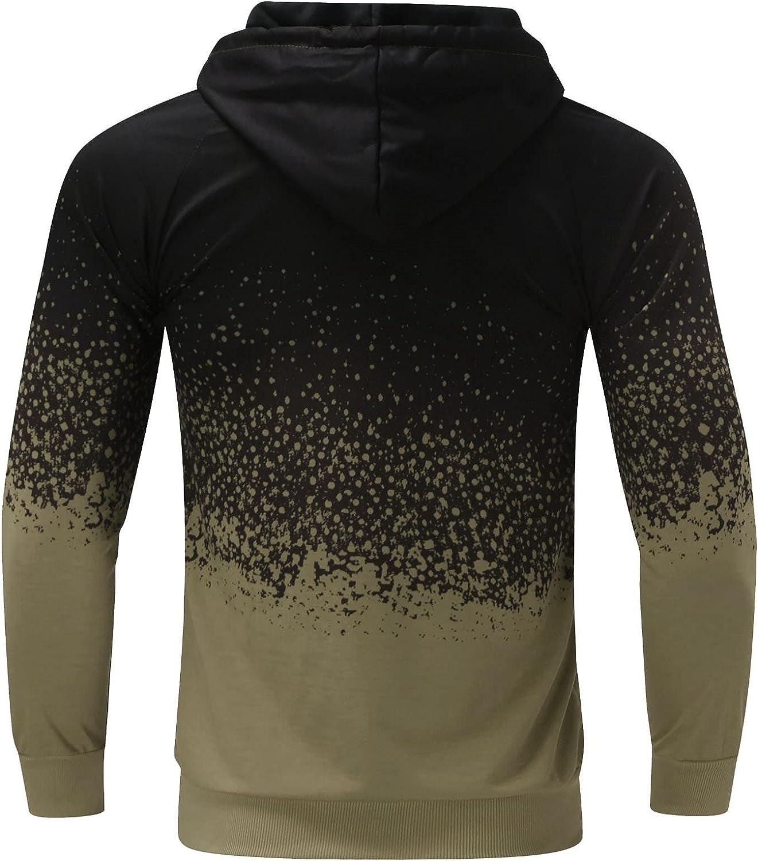 FORUU Winter Jacket For Men,Fall Fashion Folded Hoodie Jacket Solid Mens Cardigan Plus Size Slim Fit Jacket