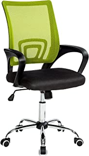 comprar comparacion TecTake Silla de Oficina giratoria con Soporte Lumbar sillón Ejecutivo Silla de Escritorio Tejido
