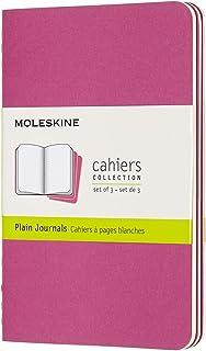 モレスキン ノート カイエ ジャーナル3冊セット 無地 ポケットサイズ キネティックピンク CH013D17