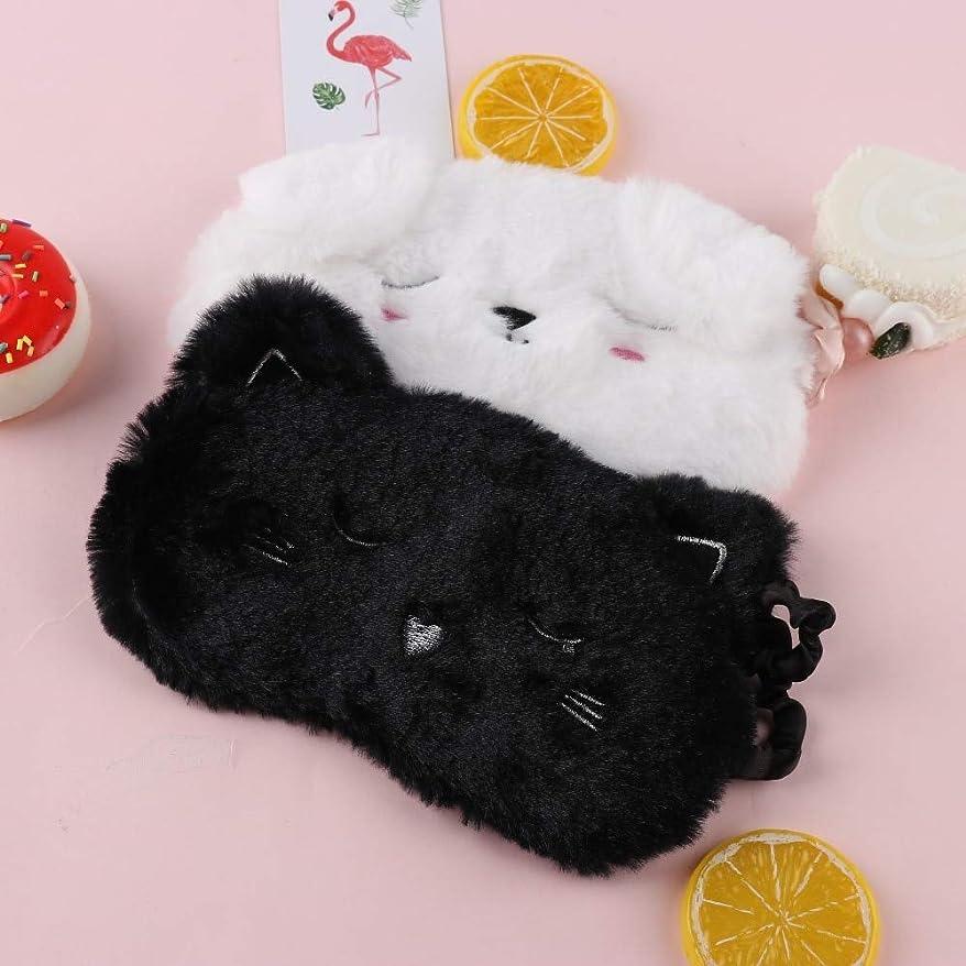 ジャンプする日縫うNOTE 漫画黒白猫子猫アイマスクホームトラベルゴーグルシェーディング睡眠仮眠アイマスク睡眠&いびきアイマスク睡眠アイシェード