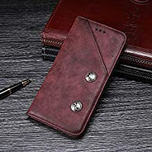 Naozbuyrig Asus Zenfone 3 Deluxe ZS550KL Case, Genuine Quality Business Retro Style Flip PU Leather Wallet Case Cover for Asus Zenfone 3 Deluxe (ZS550KL) (Color : Red)
