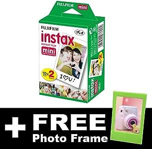Fujifilm Instax Mini Film  20 shots  FREE Photo Frame...