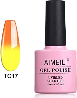 AIMEILI Soak Off UV LED Temperature Colour Changing Chameleon Holloween Gel Nail Polish - Sunset (TC17) 10ml