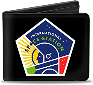 """Buckle-Down Buckle-Down Bifold Wallet International Space Station Accessory, -International Space Station, 4.0"""" x 3.5"""""""