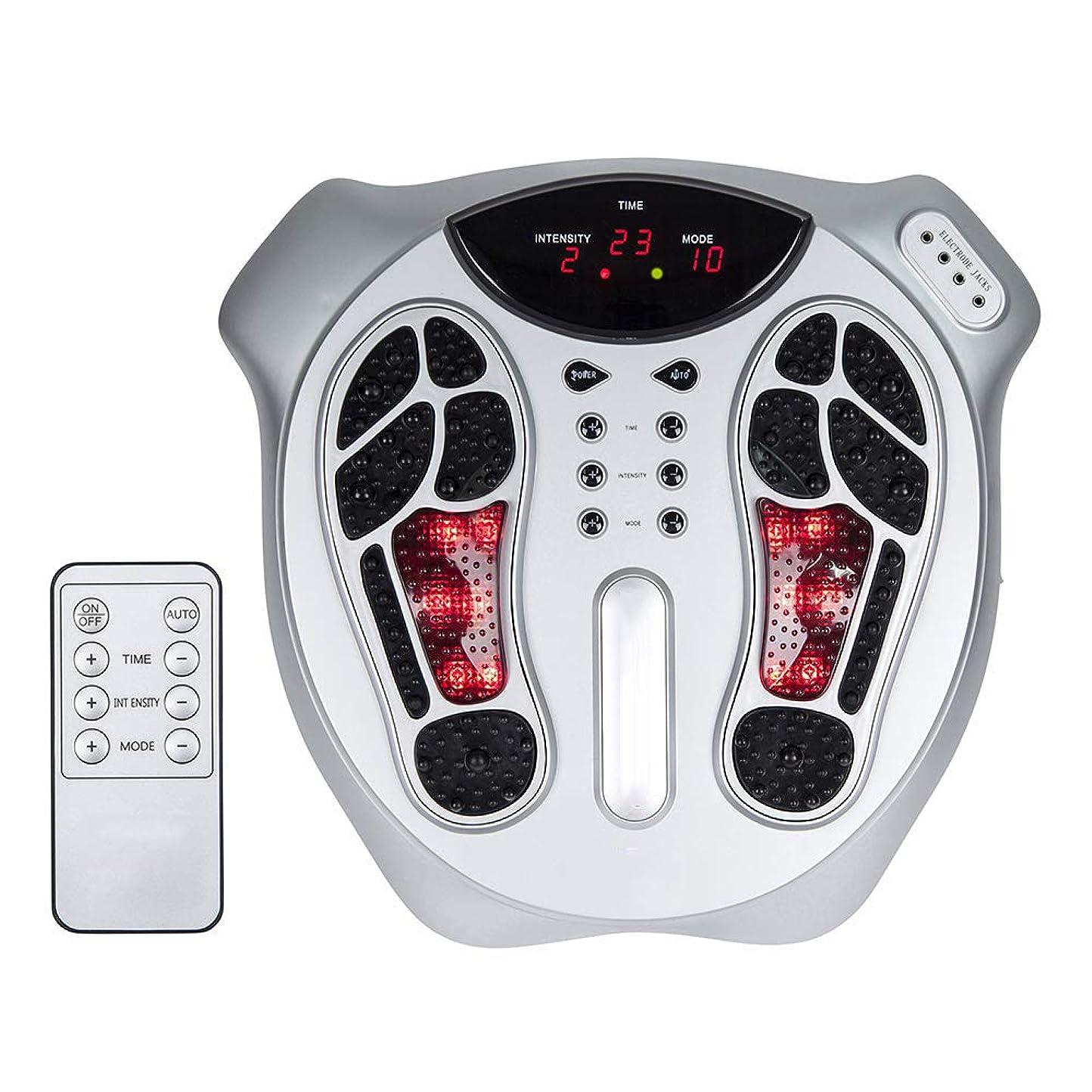 見てキャプテンブライ承認電磁足循環マッサージ、99種類の電磁波強度、15種類のマッサージモード、リモートコントロール、血液の改善と痛みの軽減に役立ちます