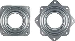 Kasteco 2 Pack Square Lazy Susan Turntable Bearing, Steel, Silver Tone, 2.8-inch