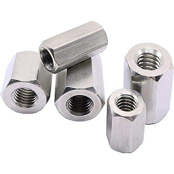 Steel Stud Connectors Metric Long Nuts Hexagon Stud Various Qty M6 M8 M10 M12