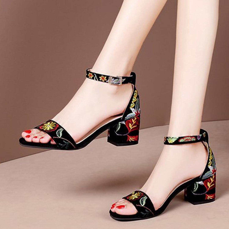 DaVanck Summer Women Sandals Embroider H Translated Ankle Sandal wholesale High Strap