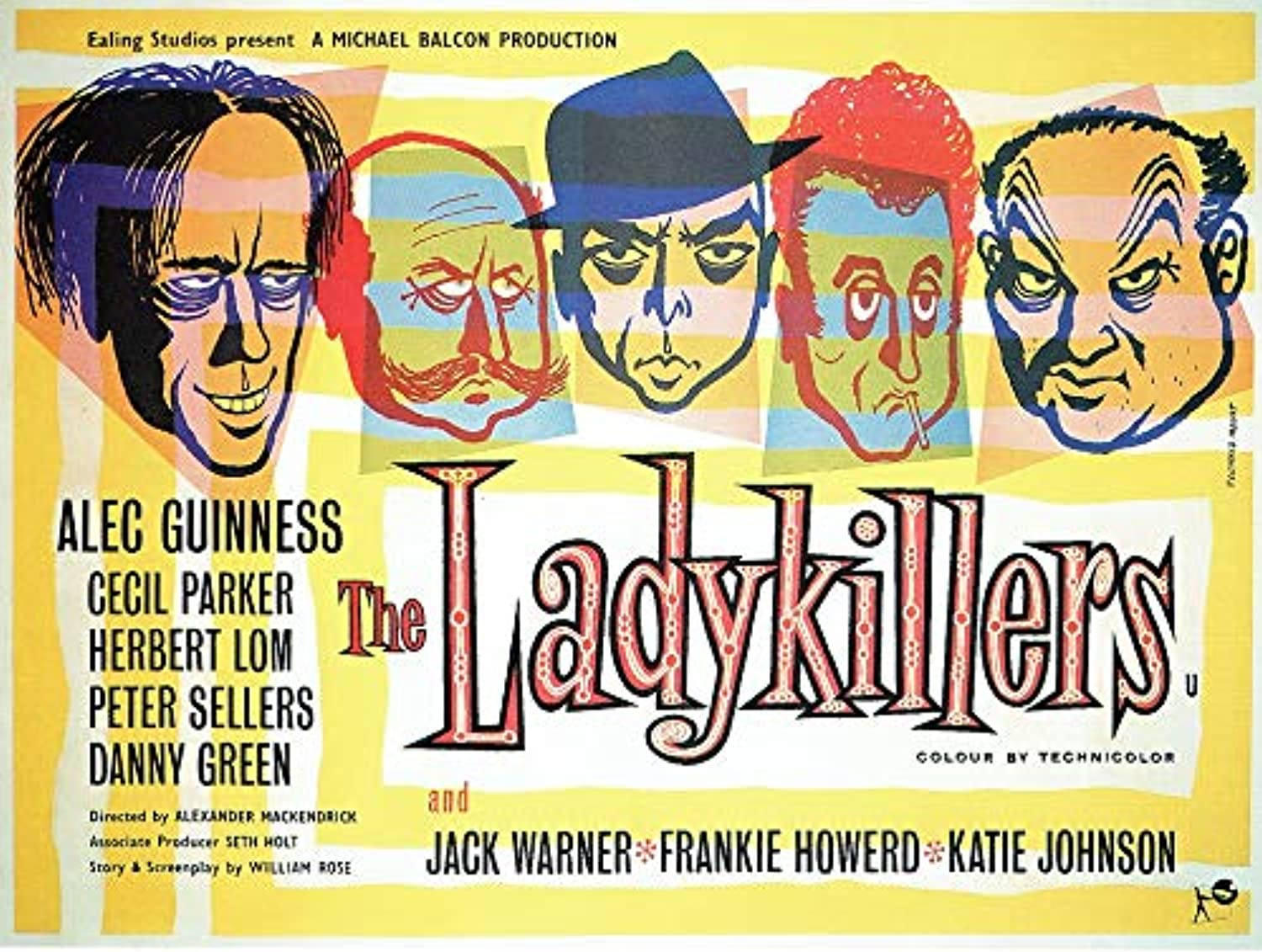 Black Creations The LadykillersBritish 1955 Film Poster Canvas Picture Art Print Premium Quality A0 A1 A2 A3 A4 (A0 Canvas (30 40))