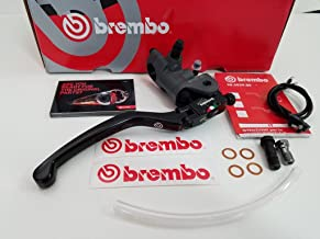 New Brembo 19RCS Forged Brake Master Cylinder With Folding Lever For 7/8-Inch Handlebars, Includes 2 length Banjo Bolts and Clear tygon Tubing