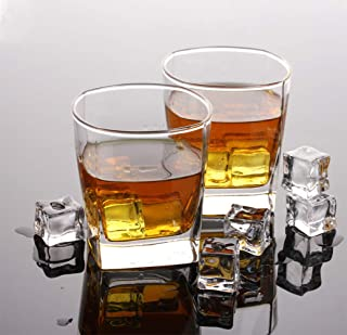 Drinking Glasses Set of 8, Glassware Set Includes 4 Highball Glasses, 4 Rocks Glasses Heavy Base Glass Cups for Water, Jui...