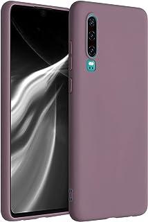 kwmobile telefoonhoesje compatibel met Huawei P30 - Hoesje voor smartphone - Back cover in druivenblauw