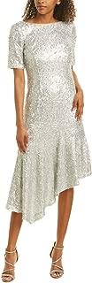 Adrianna Papell Women's Stretch Sequin Asymmetrical Midi Dress