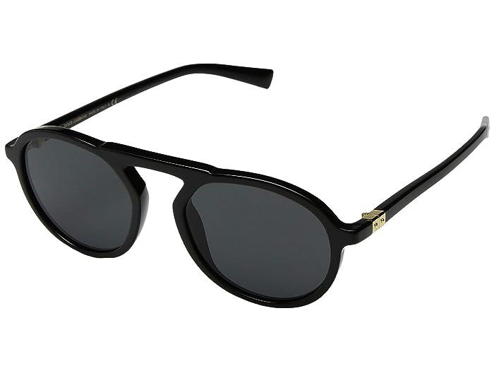 Dolce and Gabbana  0DG4351 (Black/Grey) Fashion Sunglasses