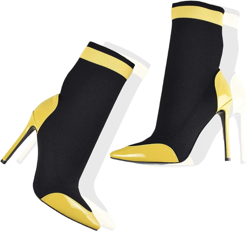 VI&VI Vivi Ladies High Heel Pointed Socks Western Mid Calf Boots
