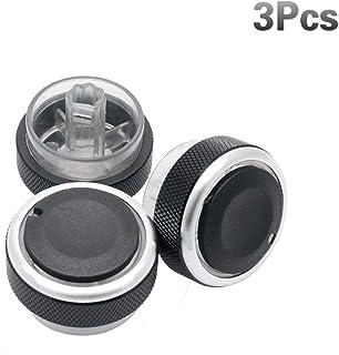 Colore : Nero HHF Adesivi Fix Ugly Button Worn Auto Aria condizionata Climatizzatore Pulsante Interruttore di Riparazione delle Decalcomanie for Il VW for Volkswagen Touareg 2004-2009