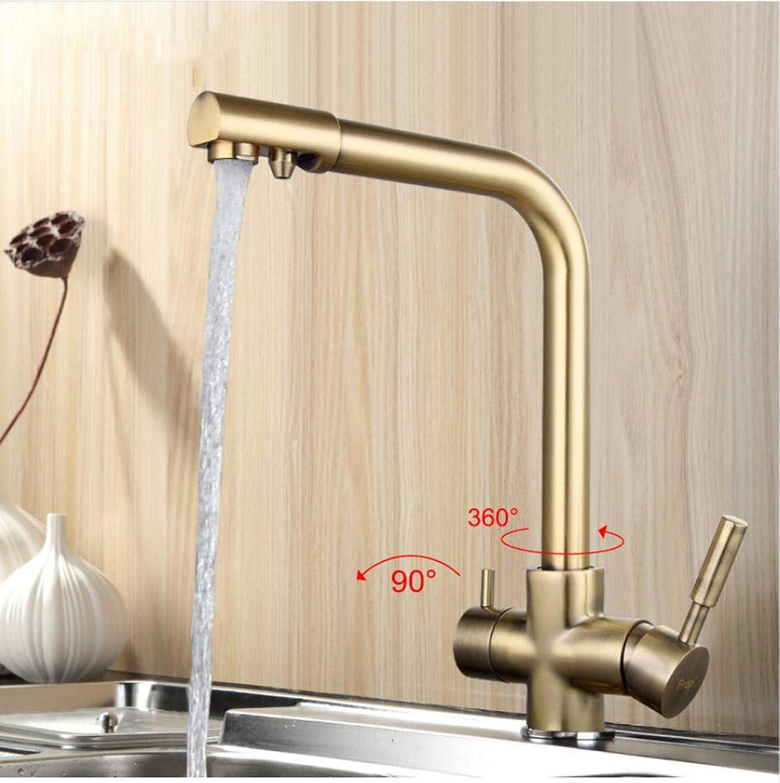 New Bronze Küchenarmatur Seven Letter Design 360-Grad-Drehung mit Wasseraufbereitung Features Doppelgriff