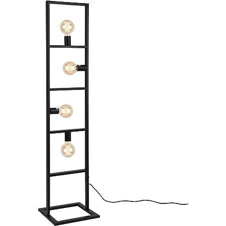 lux.pro] Lampadaire Lampe à Pied Métal Noir 4 x E27 142,5 x 31 x 31 cm