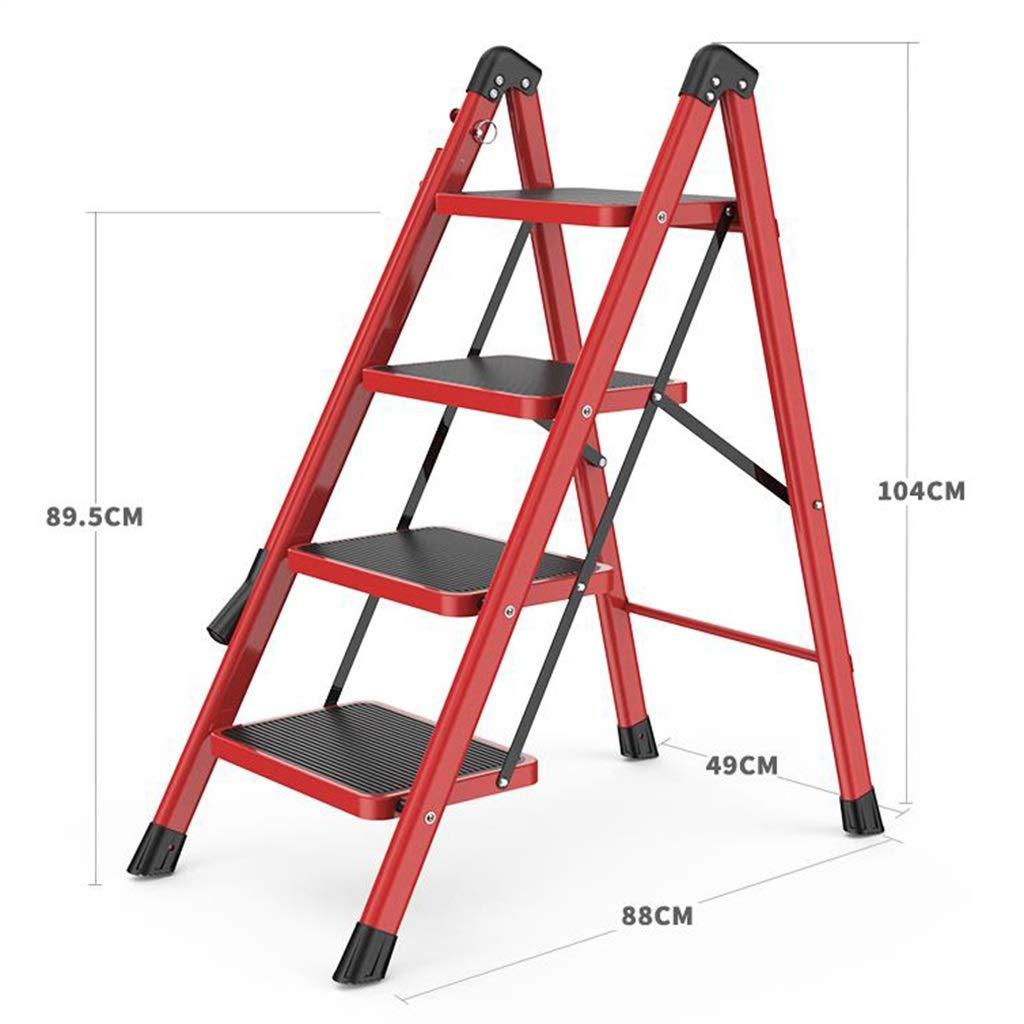 Escalera plegable, escalera de acero de 4 pasos / 5 pasos, escalera de pie plegable, escalera deslizante, escalera de cocina con peldaños antideslizantes, fácil de almacenar/transportar.: Amazon.es: Bricolaje y herramientas