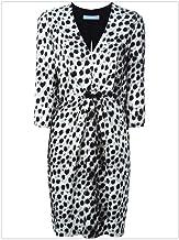 Vestido de Mujer Vestido de Falda de Cintura con Estampado de Leopardo con Estampado de Mangas con Cuello en V de Fashian Deep