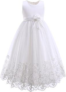 Pettigirl子供フォーマルドレス 子供 ピアノ発表会 ヴァイオリン 結婚式 ワンピース 女の子 ロングキッズドレス 130-165cm
