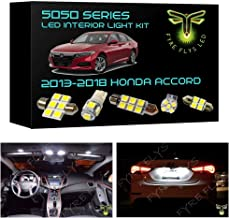Fyre Flys 14 Piece 6000K White LED Interior Lights Package Kit and Install Tool for 2013-2019 Honda Accord 5050 Series SMD