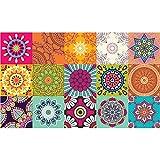 Ambiance-Live Alfombra carrelages Azteka, Vinilo, Multicolor, 60x 100x 0,28cm