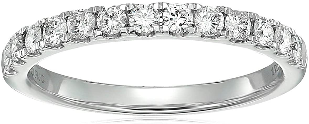 Vir Jewels Store 1 2 cttw Diamond Wedding White 14K New life Band 13 Stone Gold