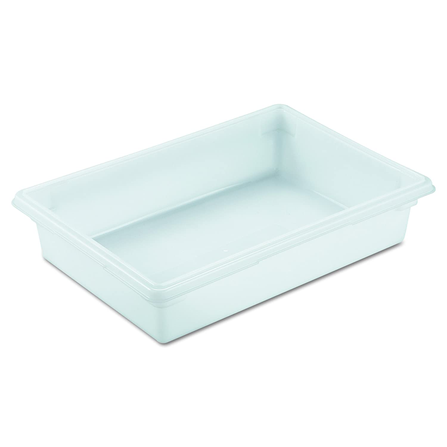 Rubbermaid Commercial Products Food Storage Box/Tote for Restaurant/Kitchen/Cafeteria, 8.5 Gallon, White (FG350800WHT)